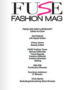 EDITOR-IN-CHIEF Penelope Bent-Lippincott, The FUSE Fashion Team