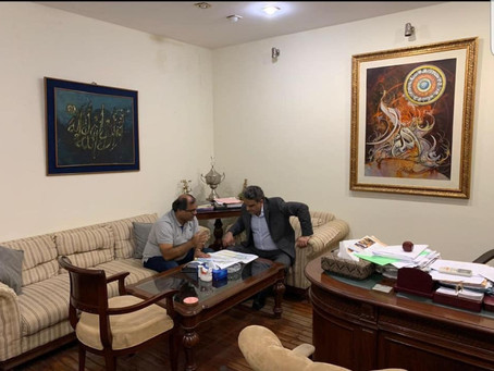 Meeting with Karachi Gymkhana's president