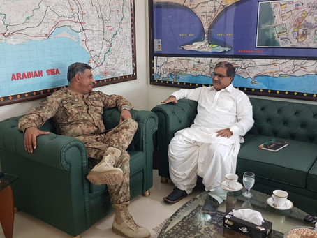 Meeting with Maj. General Amir regarding CPEC