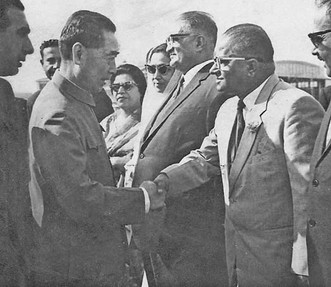 Haji Muhammad Iqbal Baloch with Zhou Enlai 周恩来, Mao Zedong, Premier of the People's Republic of China