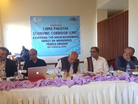 Conference on CPEC assessing the socio-economical impact on the indigenous people.