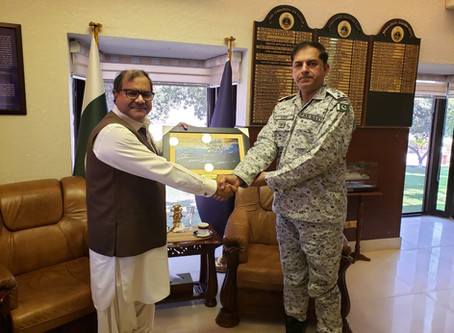 Commander Pakistan Fleet meets Ahmed Iqbal Baloch
