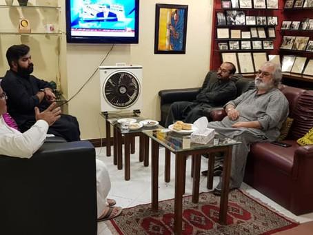 Ex CM Balochistan Nawab Ghous Buksh Barozai visit VG HOUSE & VSHNEWS Head Quarter