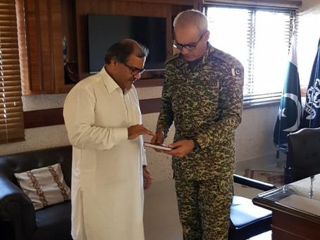 Meeting with head of Pakistan Navy Gwadar