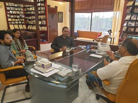 CEO Gwadar Club visit Visionary Group Head Office