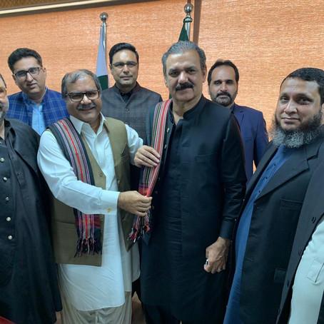Gwadar builders meet Gen. (R) Asim Saleem Bajwa regarding CPEC