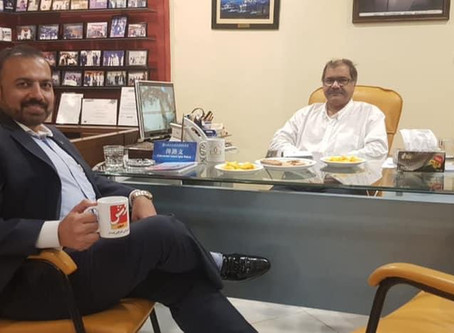 Director Coca Cola visited Visionary Group Head Office
