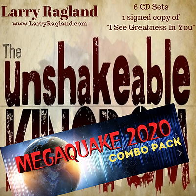"MegaQuake 2020 Package (6 CD Sets & Signed Copy of ""I See Greatness In You"""