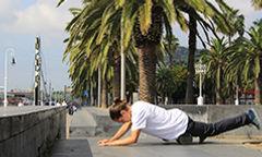 Skateboarding foam roll