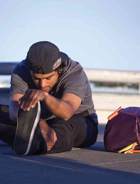 Paul Rodriguez stretching