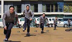 Warm up for skateboarding