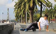 Foam roll legs for skateboarding