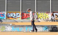 Calf stretches for skateboarding