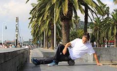 Foam roll routine for skateboarders