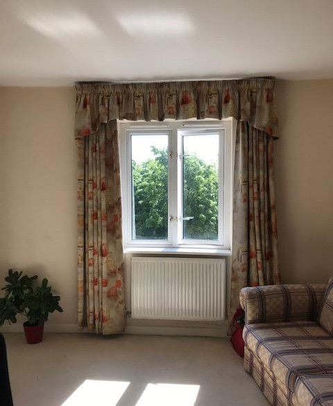 Image of bedroom before make over- Client at Tower Hamlets
