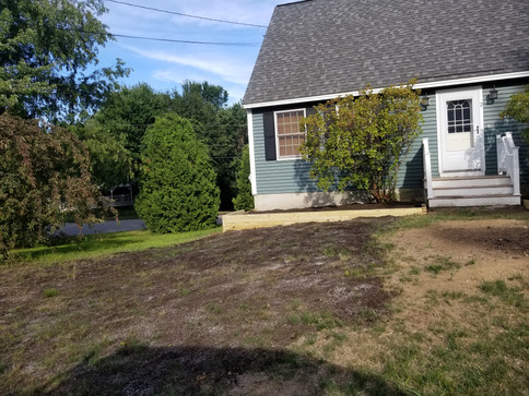 Creating side beds and prepping for new lawn