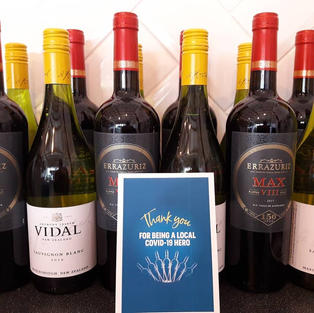 And the wine goes to Local Covid-19 Heroes...