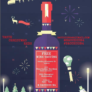 Taste our Christmas Reds on 18th Dec, Wed