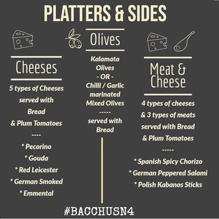 Tasty Platters & Sides @bacchusn4