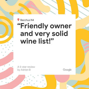 Friendly owner and very solid wine list!