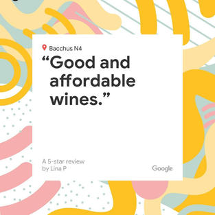 Good and affordable wines.
