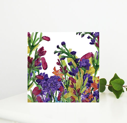 Floral Fiesta Greetings Card