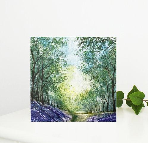 Bluebell Wood Greetings Card