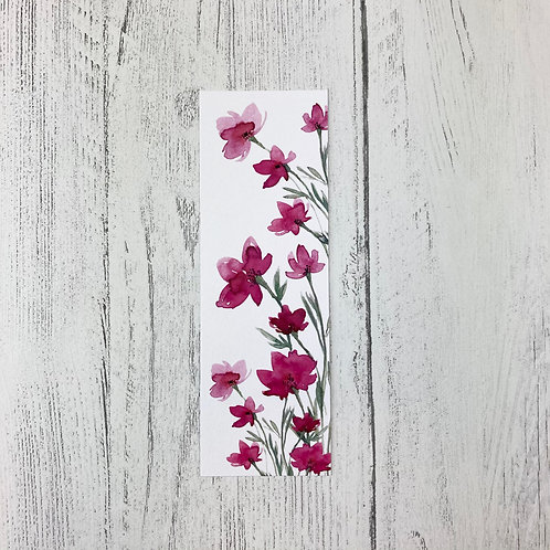Pink Floral Bookmark