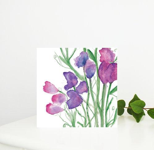 Sweet Pea Greetings Card