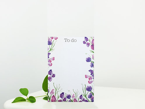 A6 Notepad Sweet Pea