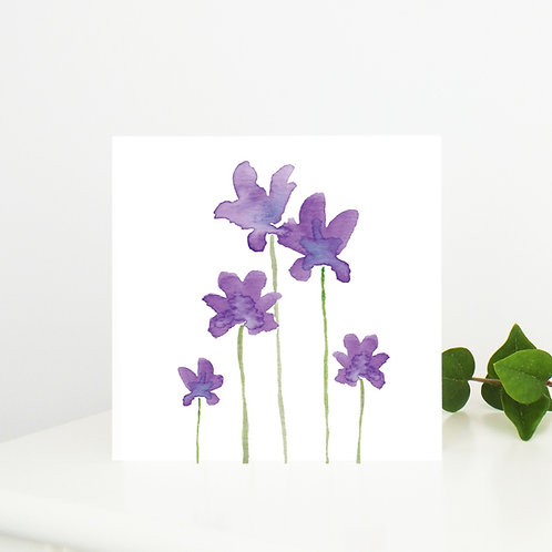Anemone Greetings Card