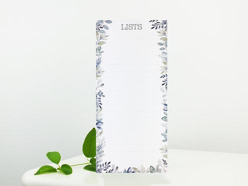 Winter Frosty Foliage List Pad