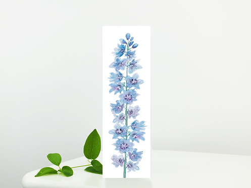 Delphinium bookmark