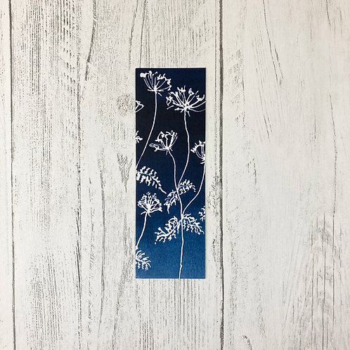 Watercolour Cow Parsley Bookmark
