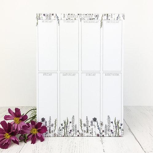 Floral Week Planner A5