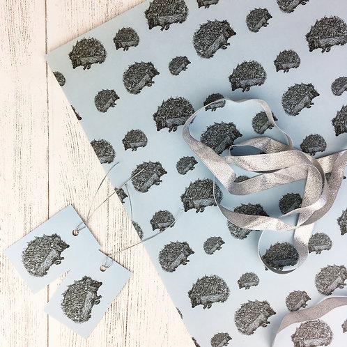 Hedgehog Gift Wrap (2 sheets)
