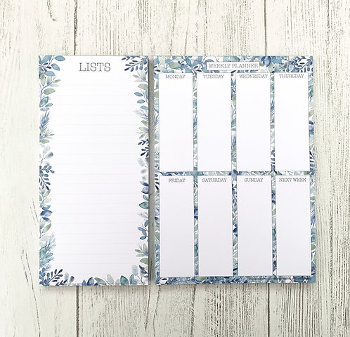 Frosty Foliage List Pad & Planner Set