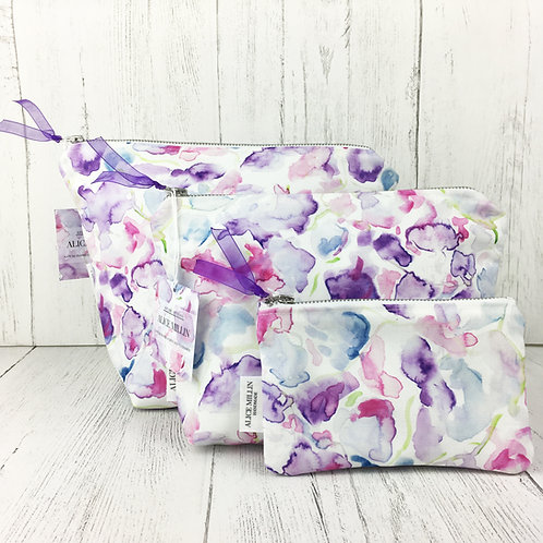 Sweet Pea Toiletry Bag Set