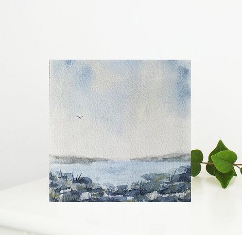 'Secret Cove' Coastal Watercolour Greetings Card