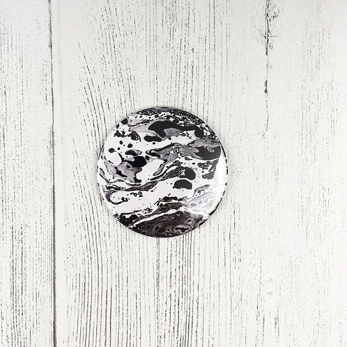 BLACK MARBLE POCKET MIRROR