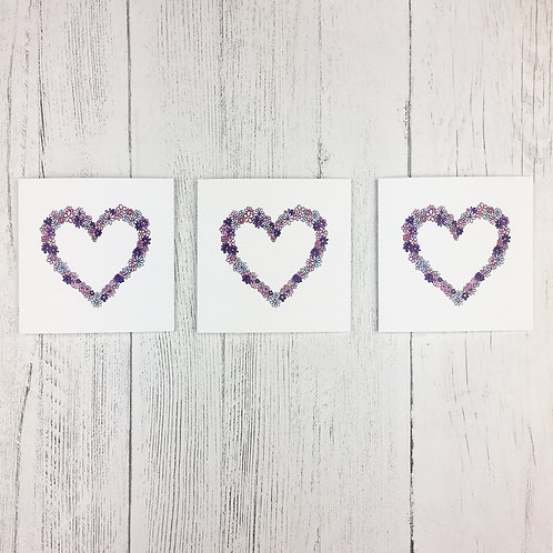 Heart Notecards (3 pack)
