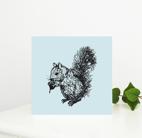 Squirrel Greetings Card