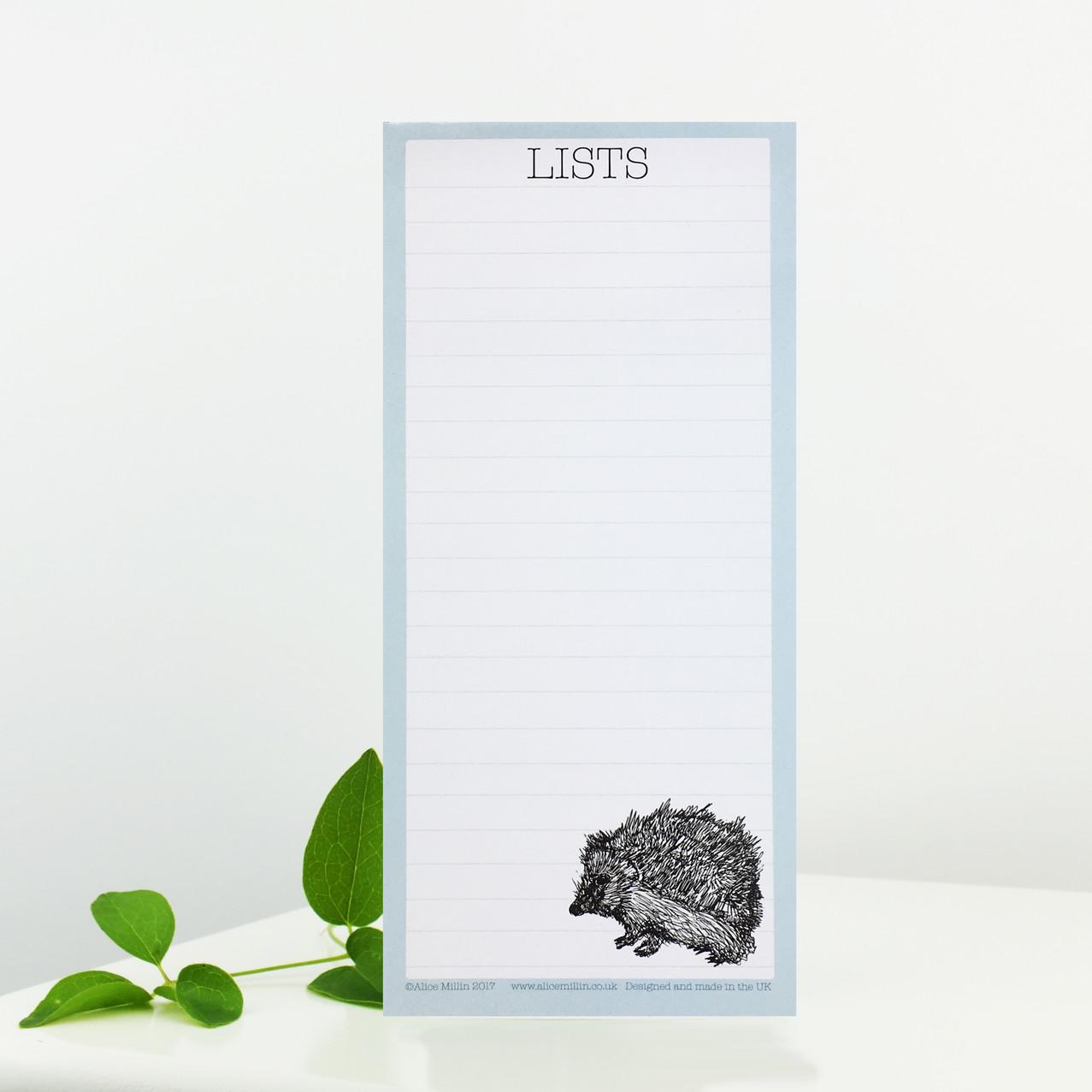 Hedgehog list pad
