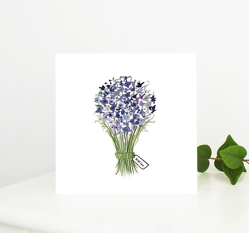 Flower Bouquet Greetings Card