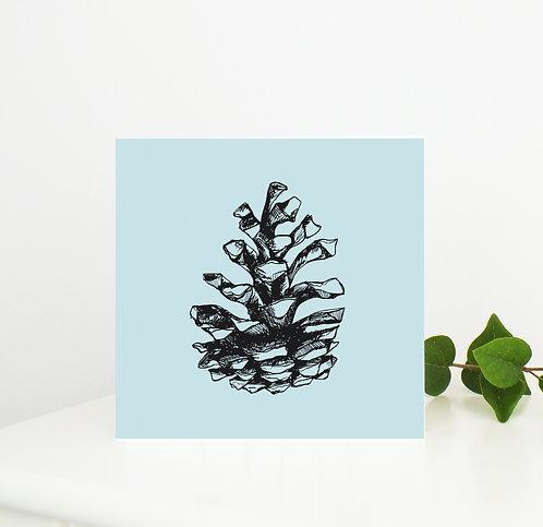 Woodland Pine Cone Card