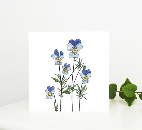 Viola Greetings Card