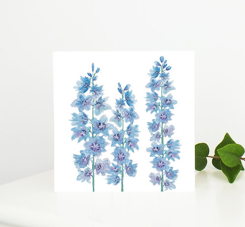 Delphinium Greetings Card