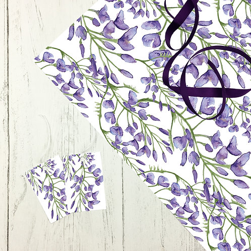Wisteria Gift Wrap (2 sheets)