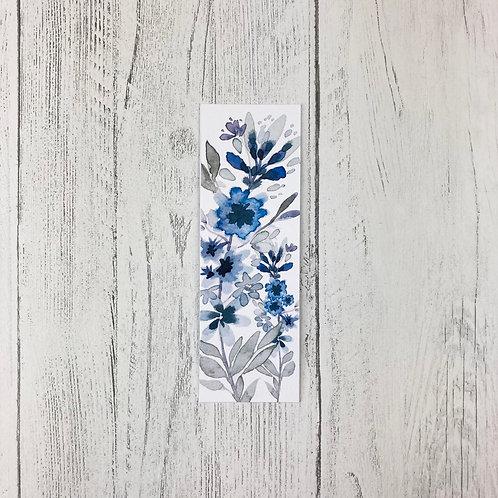 Blue and Grey 'True Blue' Bookmark
