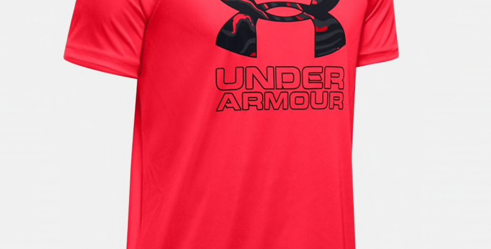 UA JNR Tech Hybrid Print Shirt
